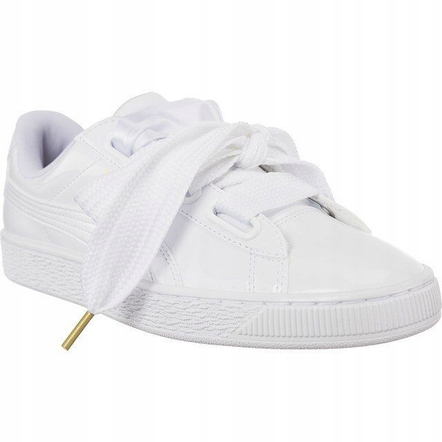 Sneakersy Buty Damskie Puma z kokardą biał 40.5