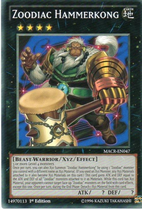 Karta YU-GI-OH - Zoodiac Hammerkong