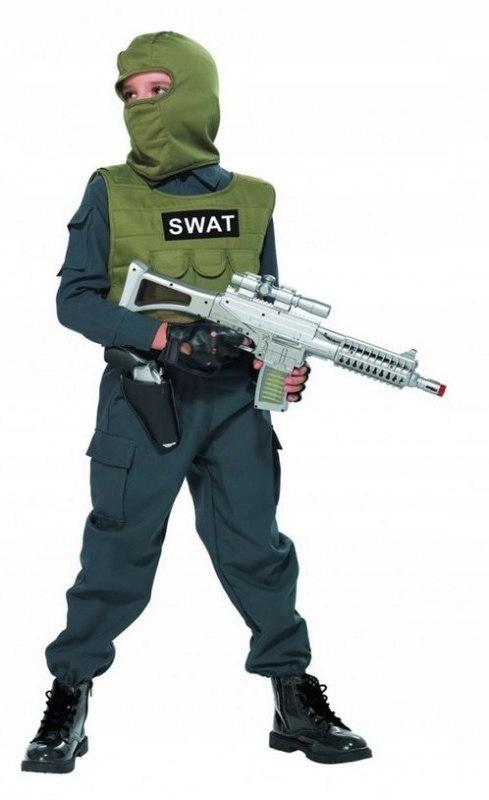 STRÓJ KARNAWAŁOWY SWAT SŁUŻBY SPECJALNE POLICJANT