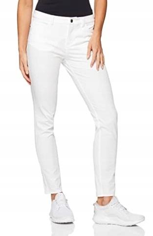 Spodnie Nike Dri Fit Women Slim Damskie Białe