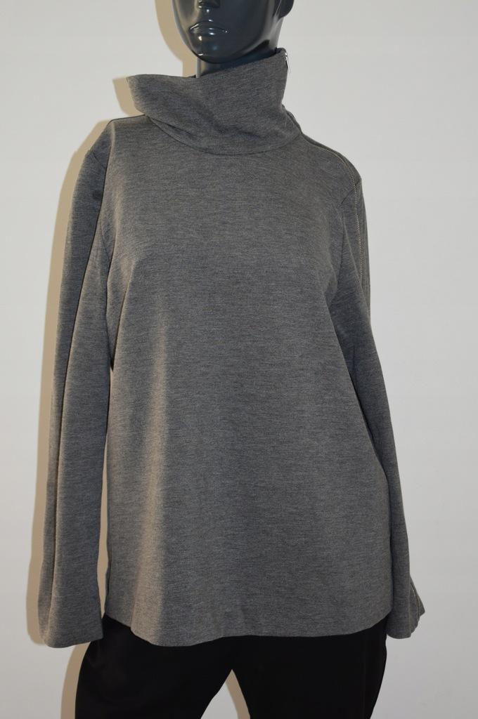 cos szara bluza bluzka zip stójka wiskoza 40/38 L