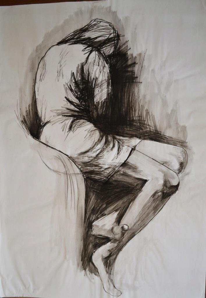 Obraz Rysunek Postac Modern Art Body 100x70 Szkic 8503858327 Oficjalne Archiwum Allegro