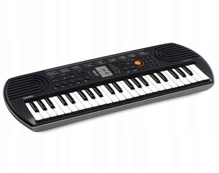 Keyboard Klawisze Casio SA77 DLA DZIECI + ZASILACZ