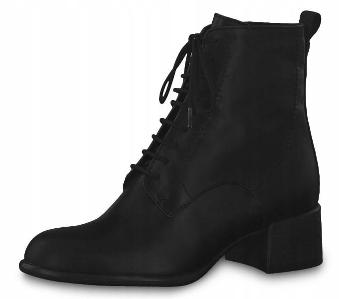 Tamaris 1-25124-33 40 czarne buty botki trzewiki %