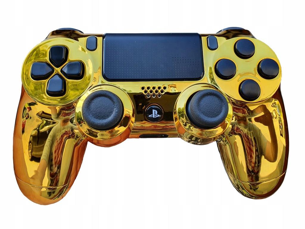 NOWY PAD PS4 V2 DUALSHOCK 4 CUSTOM CHROME GOLD