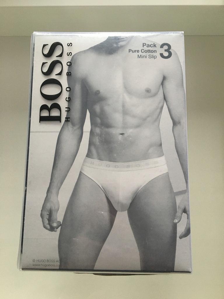 Nowe slipy 3 pack Hugo Boss M black