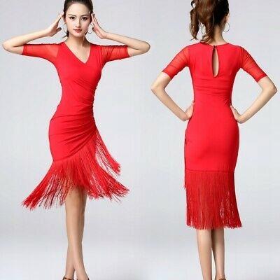 A833 Strój Do Tańca Czerwony Tango r. S