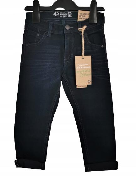 Spodnie jeans ORGANIC COTTON CUBUS 110 granat