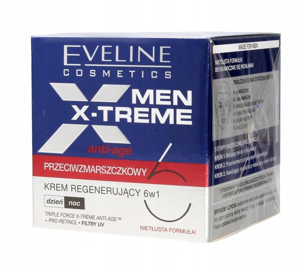 EVELINE MEN X-TREME 6W1 KREM PRZECIWZMARSZCZKOWY