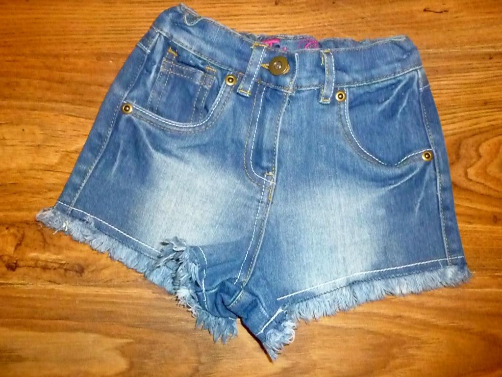 Krótkie spodenki jeansowe TU 98 cm IDEAŁ
