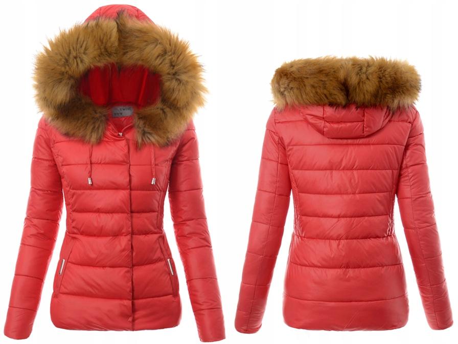 czetwona zimowa kurtka damska xxl