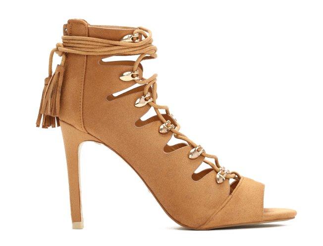 Sznurowane wiązane sandałki sandały szpilki 36 39 Zdjęcie