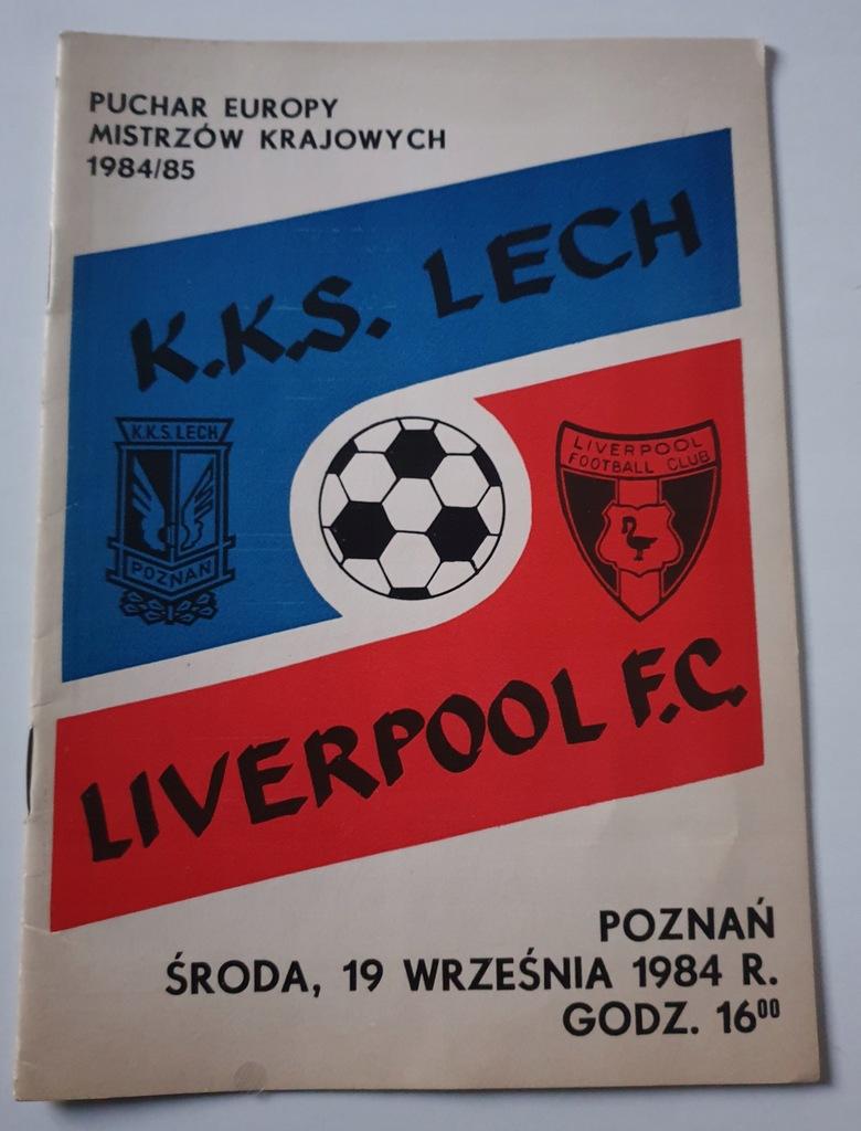 PROGRAM LECH POZNAŃ - FC LIVERPOOL 1984