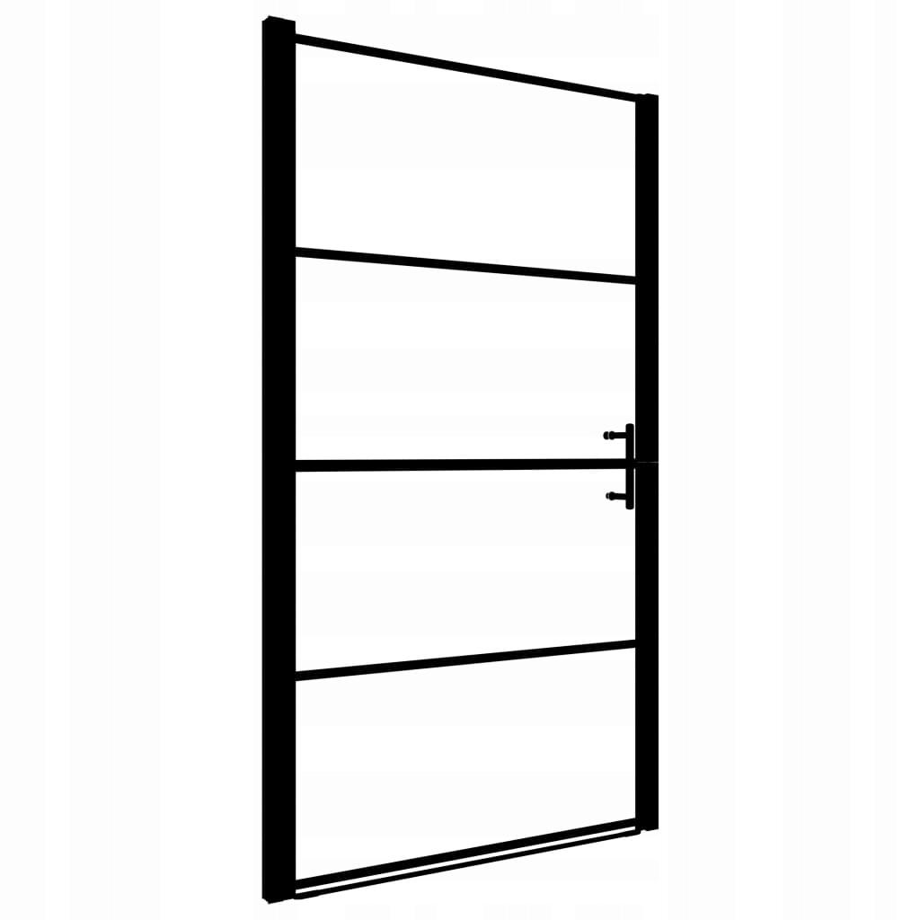 Drzwi prysznicowe, hartowane szkło mrożone, 100x17