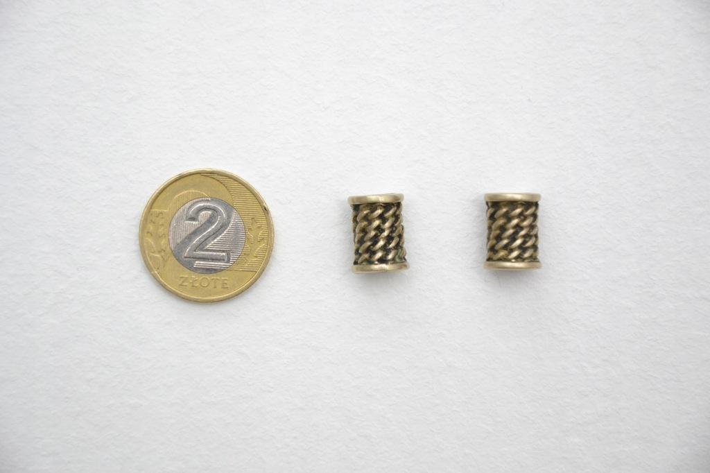 KORALIKI DO BRODY 6 mm (BRĄZ) 2 szt.