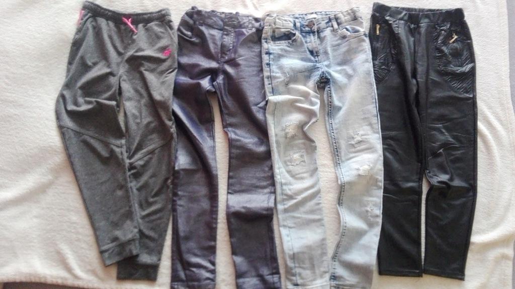 Spodnie dla dziewczynki roz134-140 BDB!!!