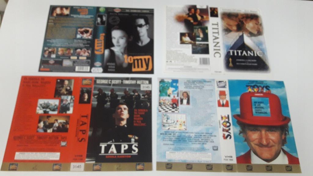 A-0771 pakiet 8 okładek kaset vhs