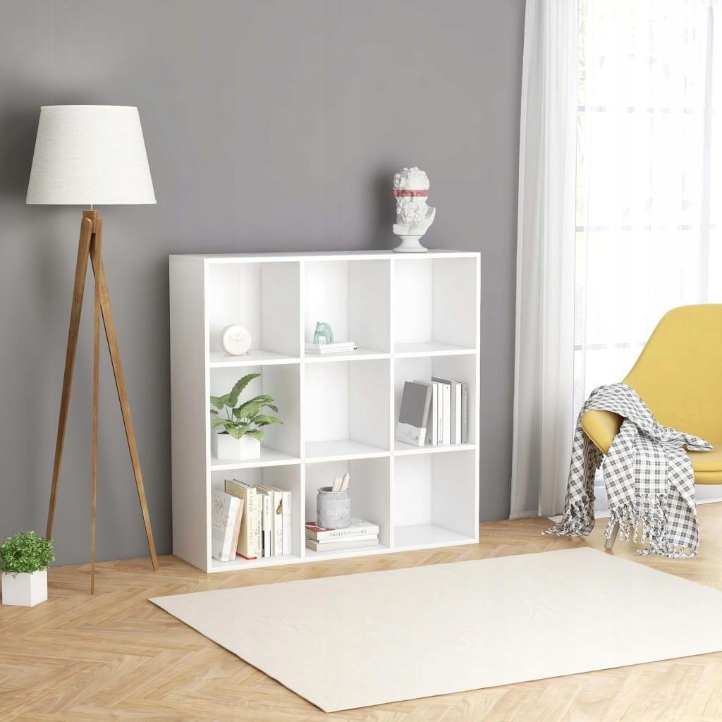 Regał na książki, biały, 98 x 30 x 98 cm, płyta wi