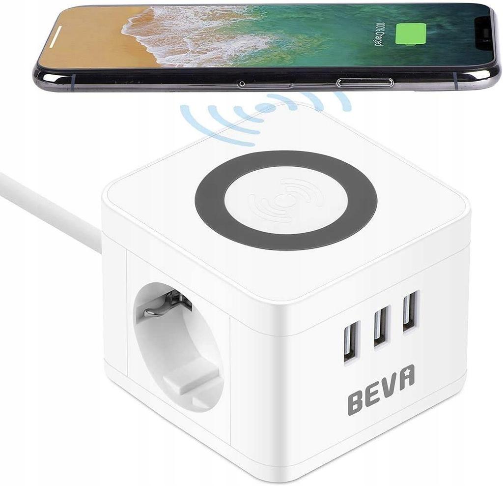 Kostkowa listwa zasilająca BEVA 2 komory + 3 USB