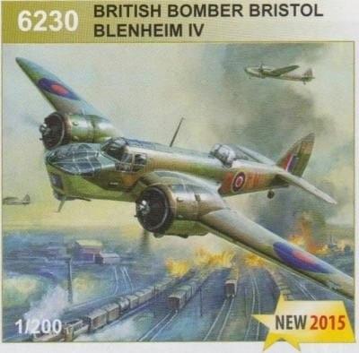 Zvezda 6230 1/144 Brit. Bomber Bristol Blenheim