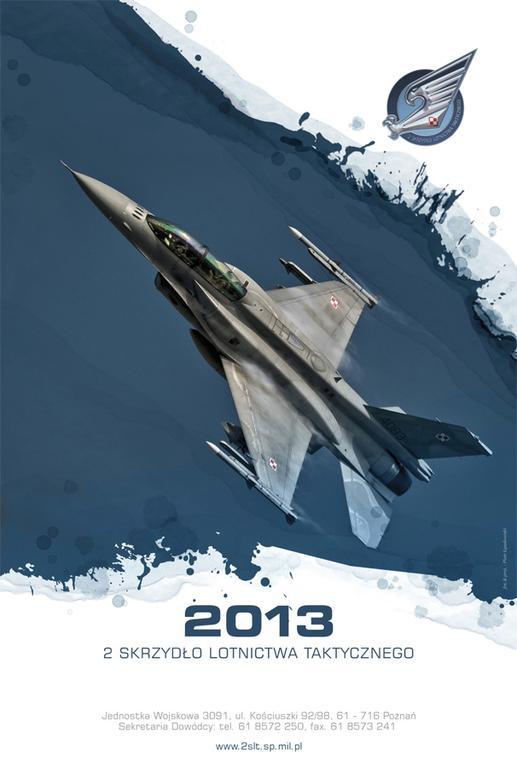 2 SLT., Kalendarz Skrzydła z F-16 na 2013