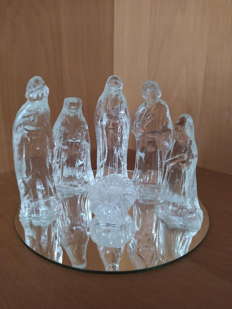 Figurki do stajenki szklane Maryja Józef Jezusek