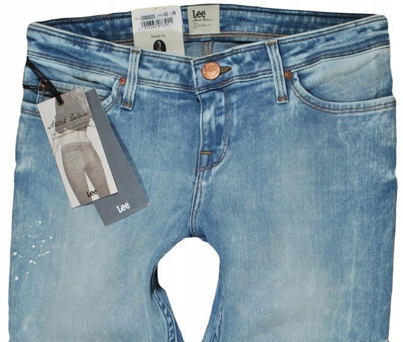 LEE spodnie SUPER SKINNY blue jeans TOXEY W30 L31