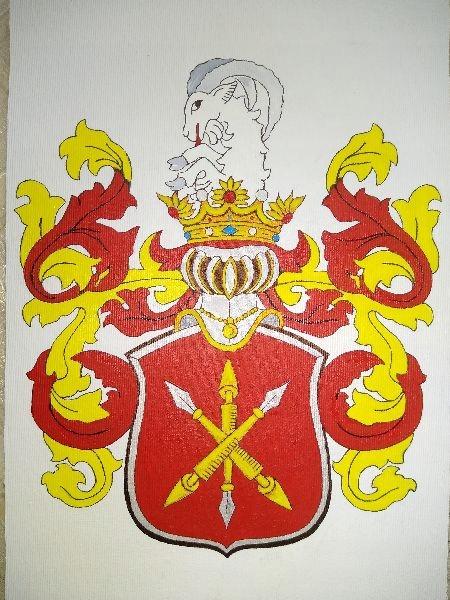 HERB SZLACHECKI JELITA, 21 x 30 cm ( wzór )