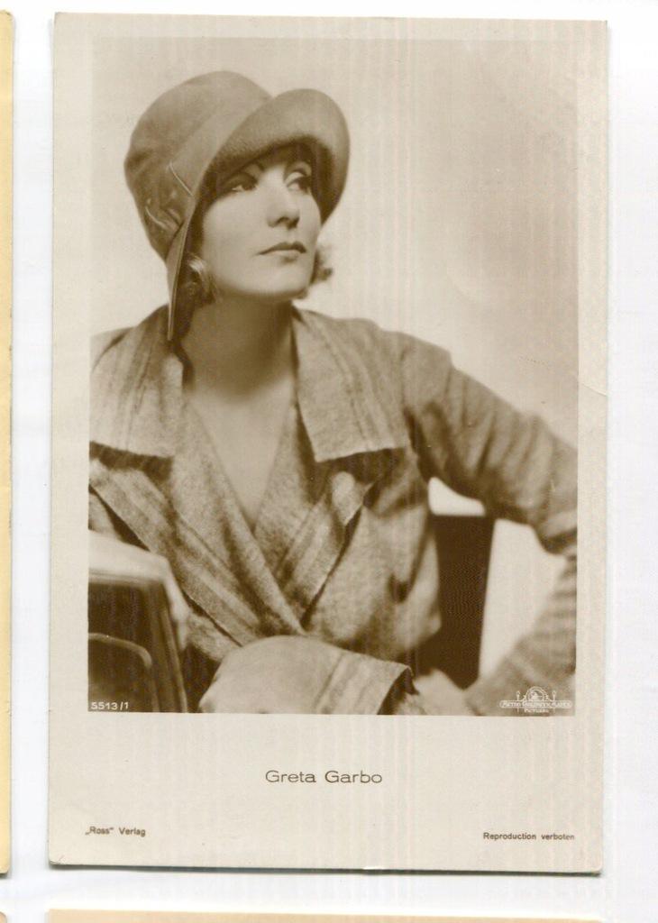 Greta Garbo Kino Film Aktorka Foto Pocztówka 7