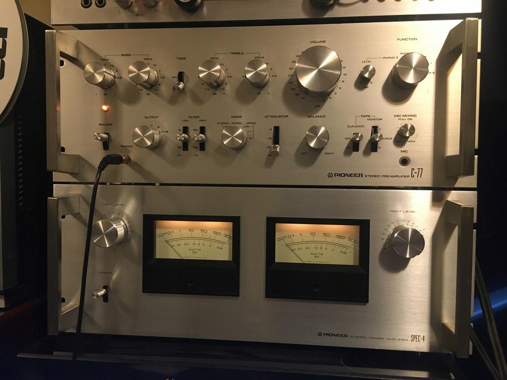 Pioneer Spec4 końcówka i preamp Spec C77 (Spec1)
