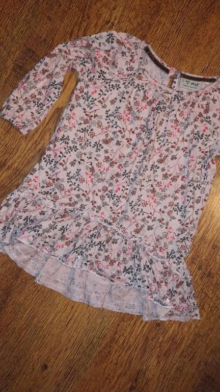 Next bawełniana Sukienka w kwiatki r.92 18-24m