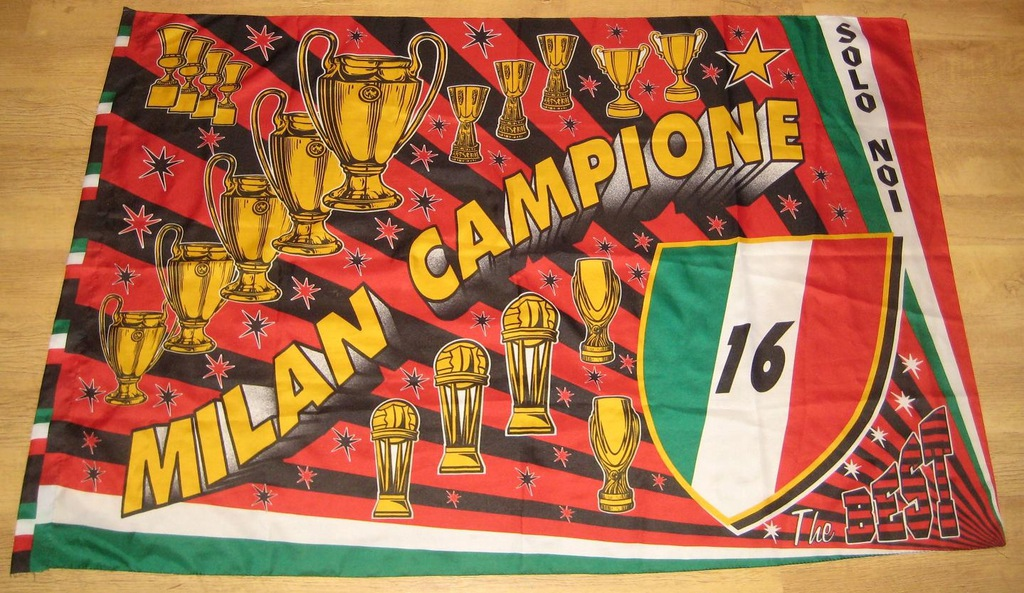 AC MILAN - DUŻA FLAGA NA ŚCIANĘ - Z WŁOCH