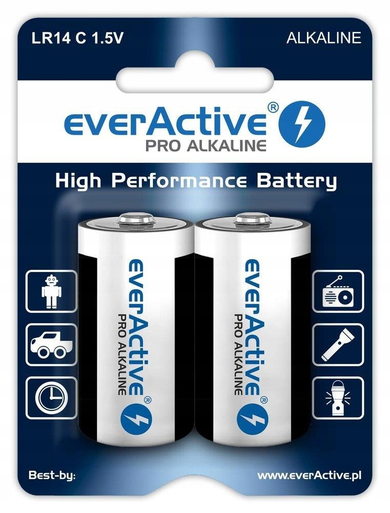 Baterie alkaliczne C/LR14 everActive Pro Alkaline