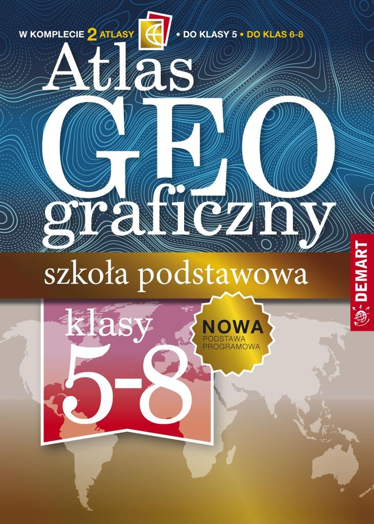 Pakiet atlas geograficzny szkoła podstawowa klasy