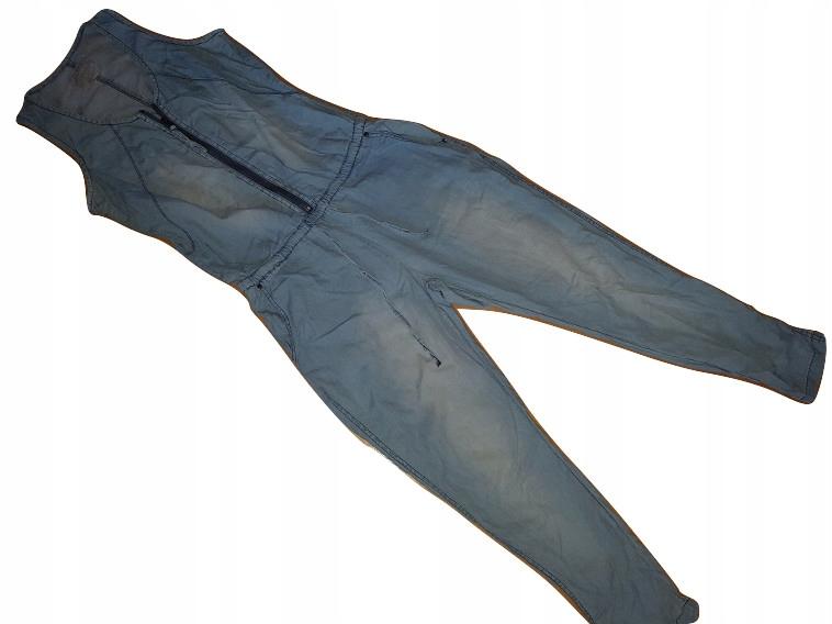 (K)_RESERVED - jeansowy kombinezon zamek - ROZM.L