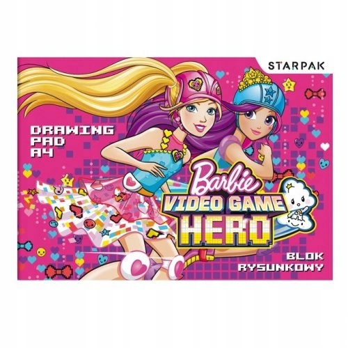 Blok rysunkowy A4 Barbie