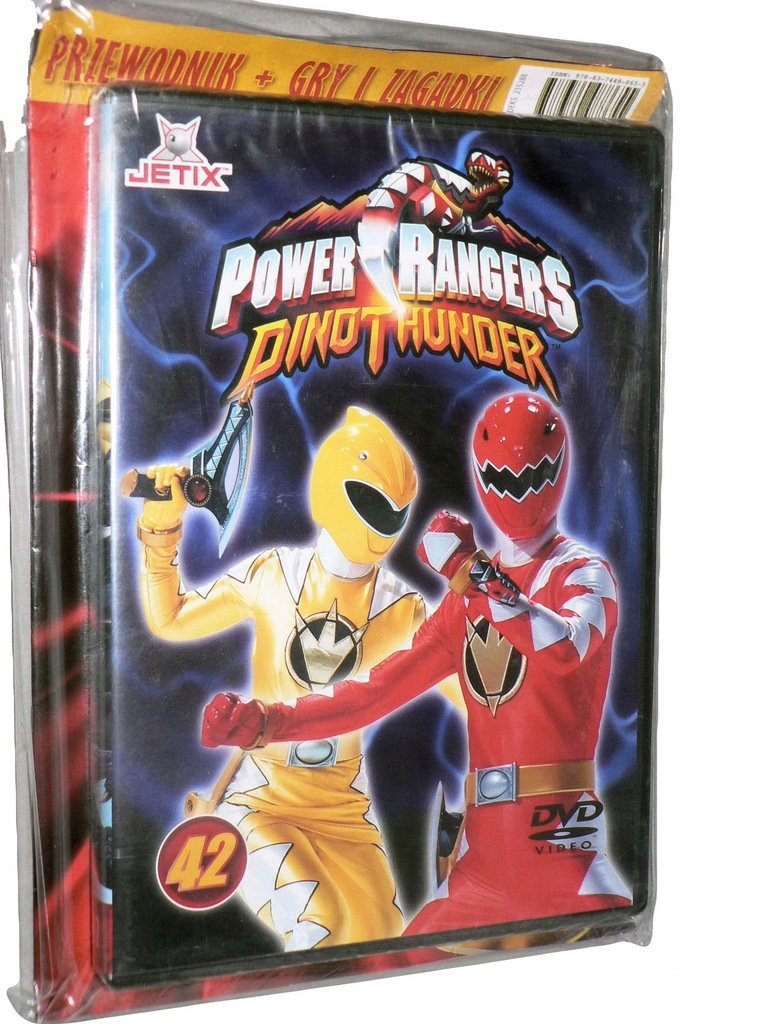 DVD - POWER RANGERS DINO GRZMOT - nr 42 - folia
