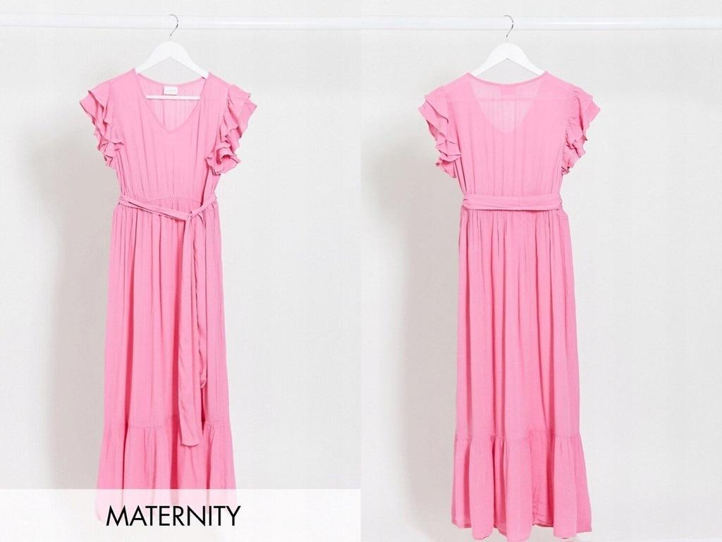 Mamalicious Maternity Różowa sukienka maxi M