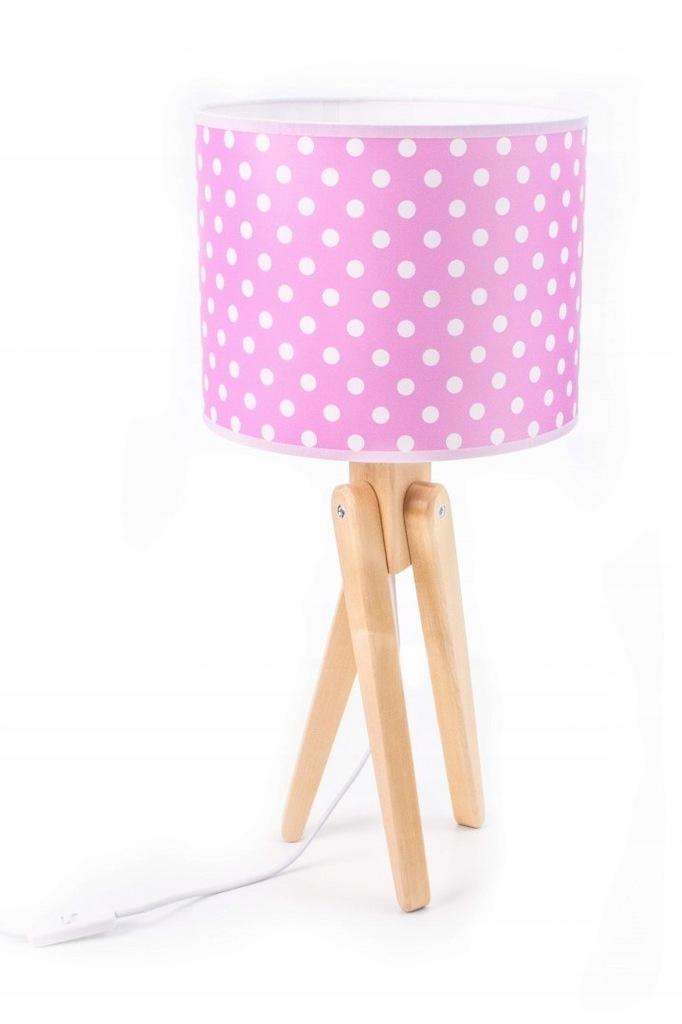 Lampka biurkowa stołowa dziecięca Effy różowe gros
