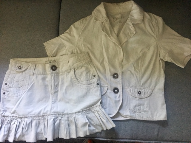 GUESS komplet spódnica spódniczka marynarka