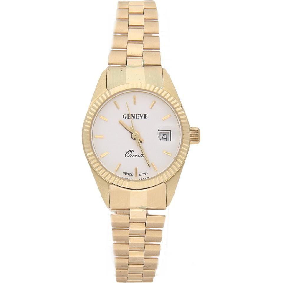 Zegarek Geneve złoty próby 585 damski bransoleta