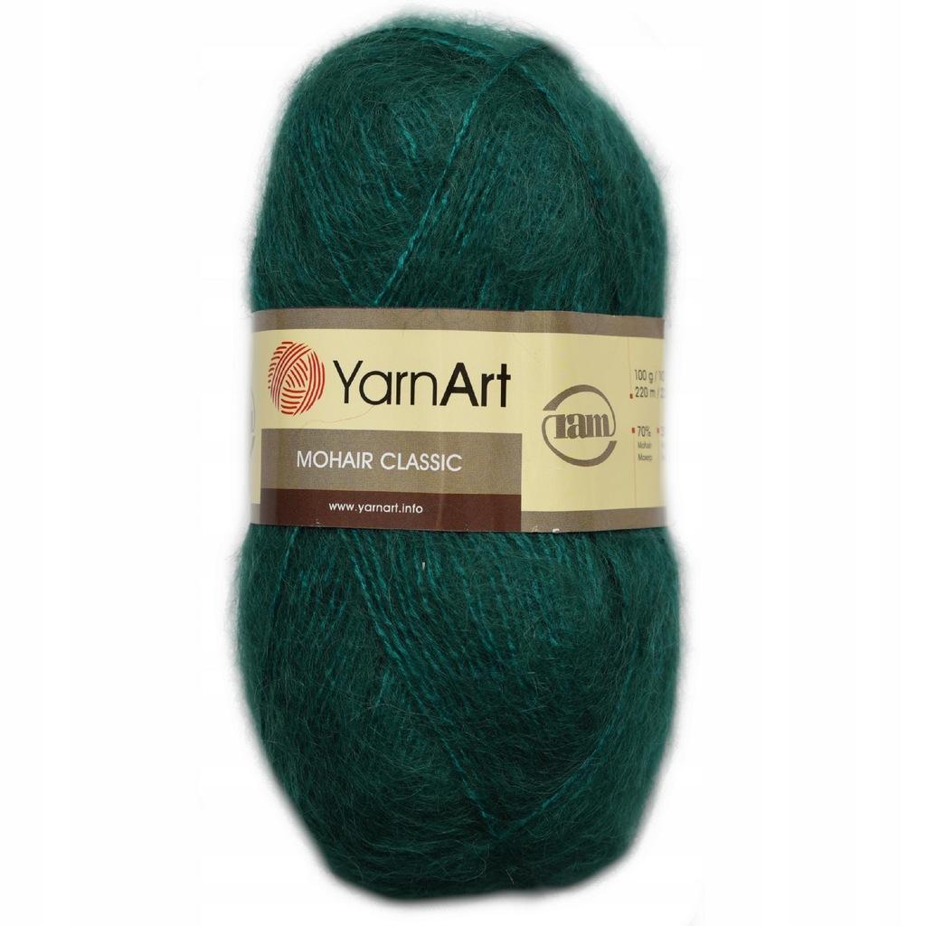 Włóczka YarnArt Mohair Classic Zielona 103 Moher