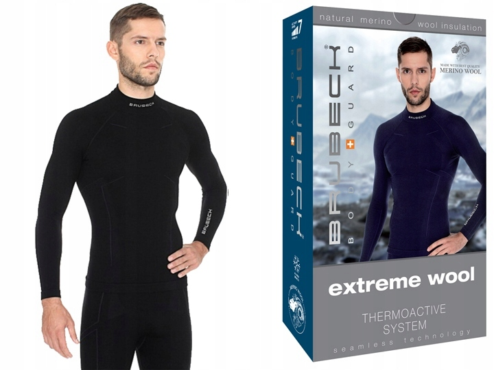 WEŁNIANA BLUZA BRUBECK Extreme Wool Men Czarna M