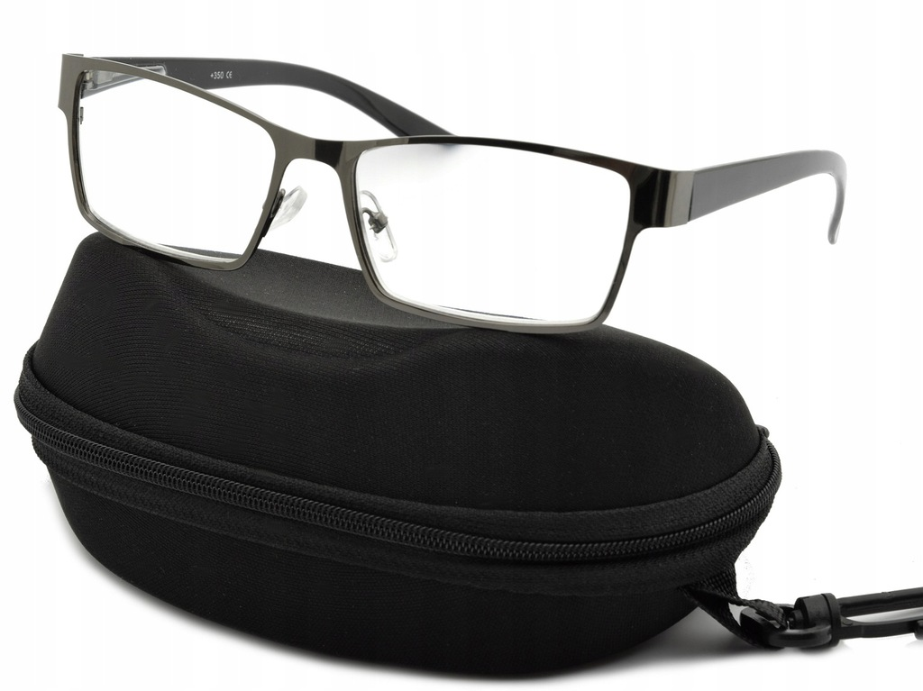 PLUSY Okulary CZYTANIA Korekcyjne METALOWE Flexy
