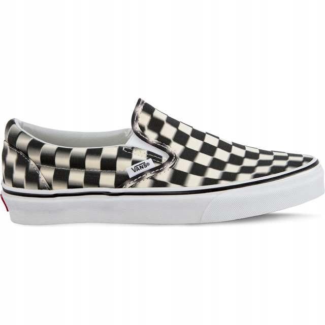 Vans Classic Slip On Platform Checkerboard BlackWhite