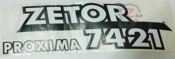 Naklejka prawa Zetor 7421 (54802017)