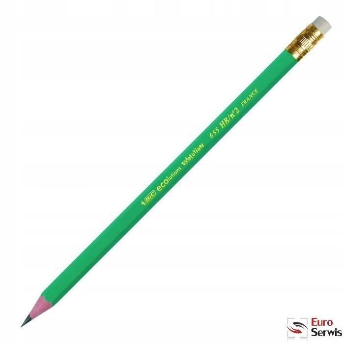 Ołówek drewniany Evolution 655 z gumką BIC 880332