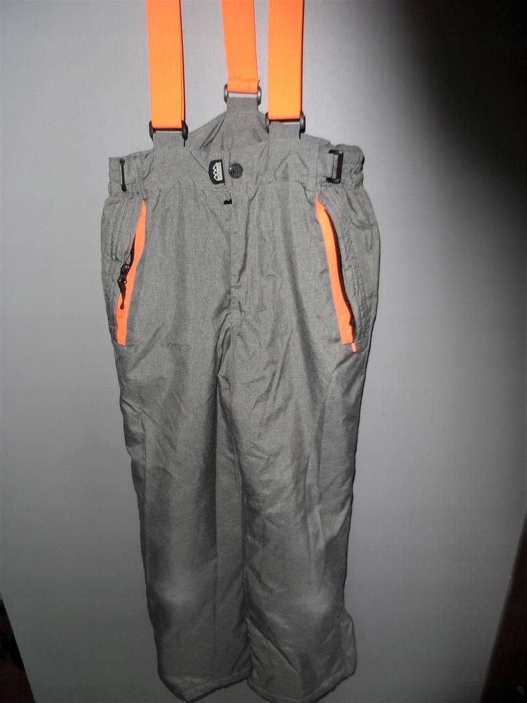Spodnie zimowe ocieplacze narciarskie rozm.146