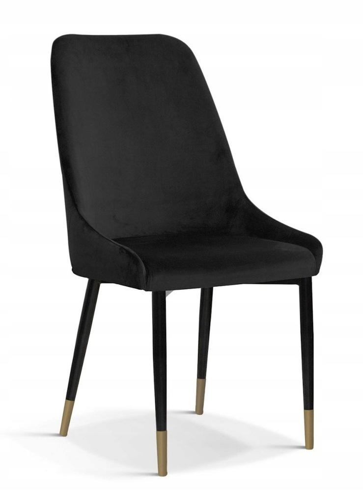 Krzesło OLIVIER M czarny/ noga czarno-złota/ BL19