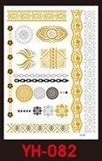 Tatuaże metalic złote srebrne FLASH TATTO YH-082